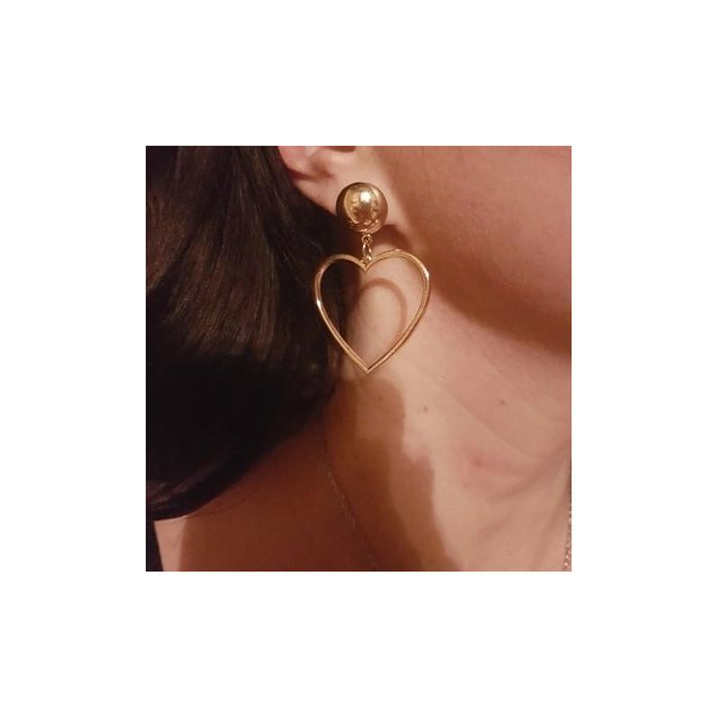 Heart Drop Earrings from kellinsilver.com