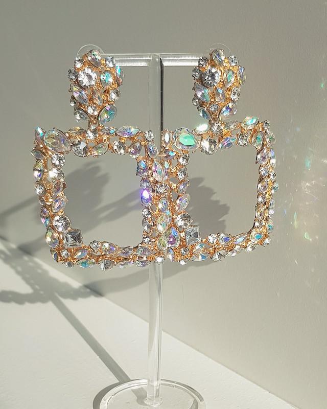 Jewel Square Drop Earrings on kellinsilver.com