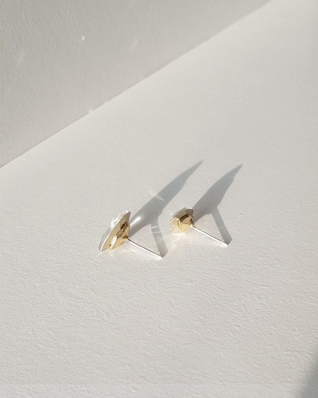 Diamond Shaped Stud Earrings on kellinsilver.com