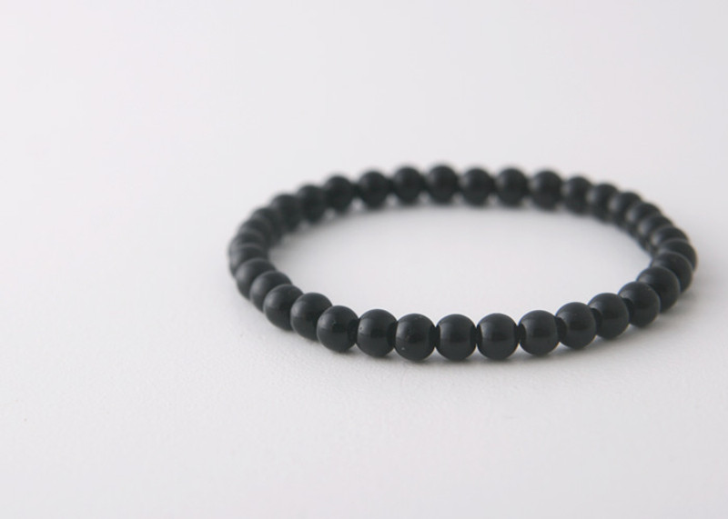 5mm Black Onyx Bead Bracelet