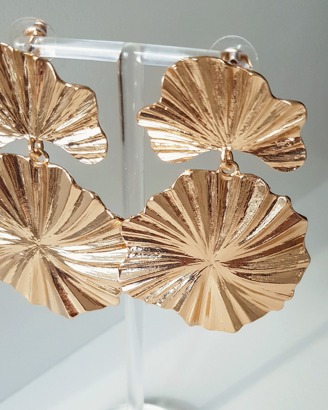 Pleated Flower Earrings from kellinsilver.com
