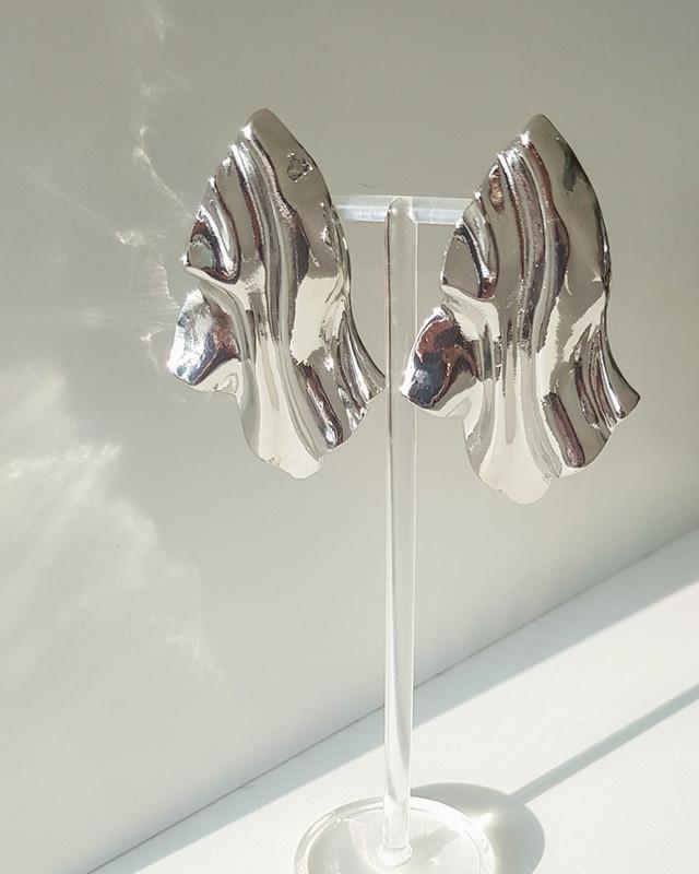 Paper Wrinkle Earrings