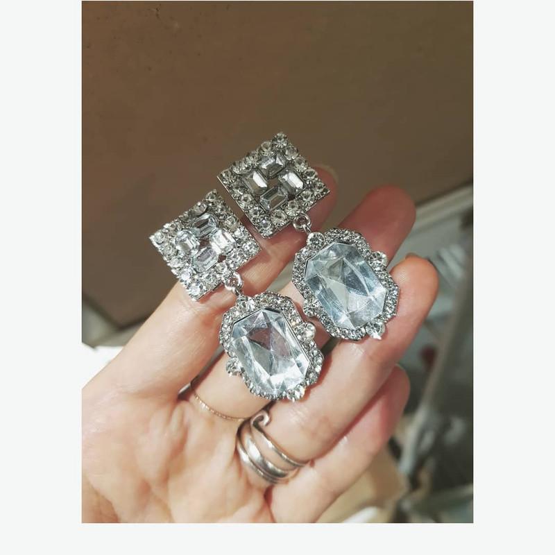 Crystal Gemma Earrings from kellinsilver.com