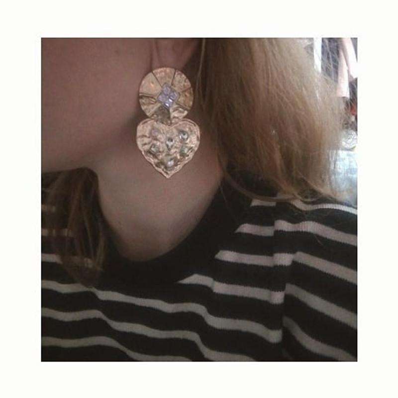 Vintage Heart Drop Earrings on kellinsilver.com