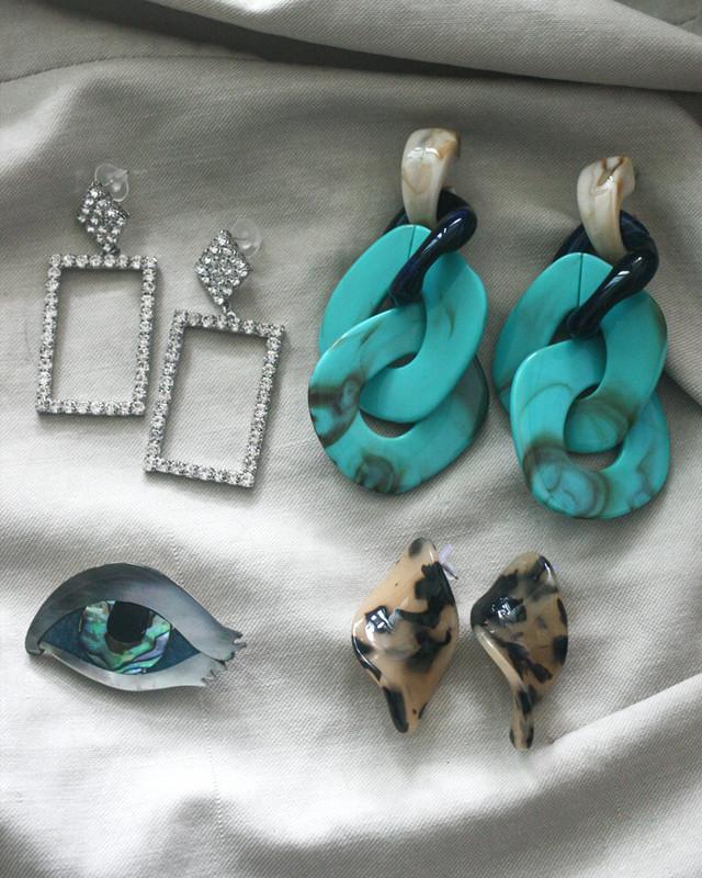 Rhinestone Frame Earrings  from kellinsilver.com