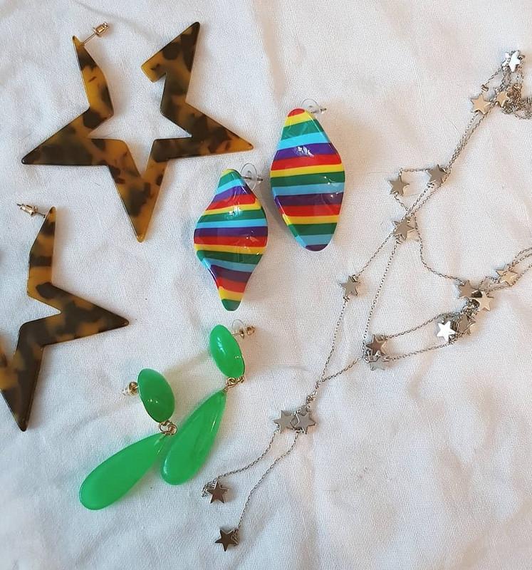 Rainbow Swirl Acrylic Earrings on kellinsilver.com