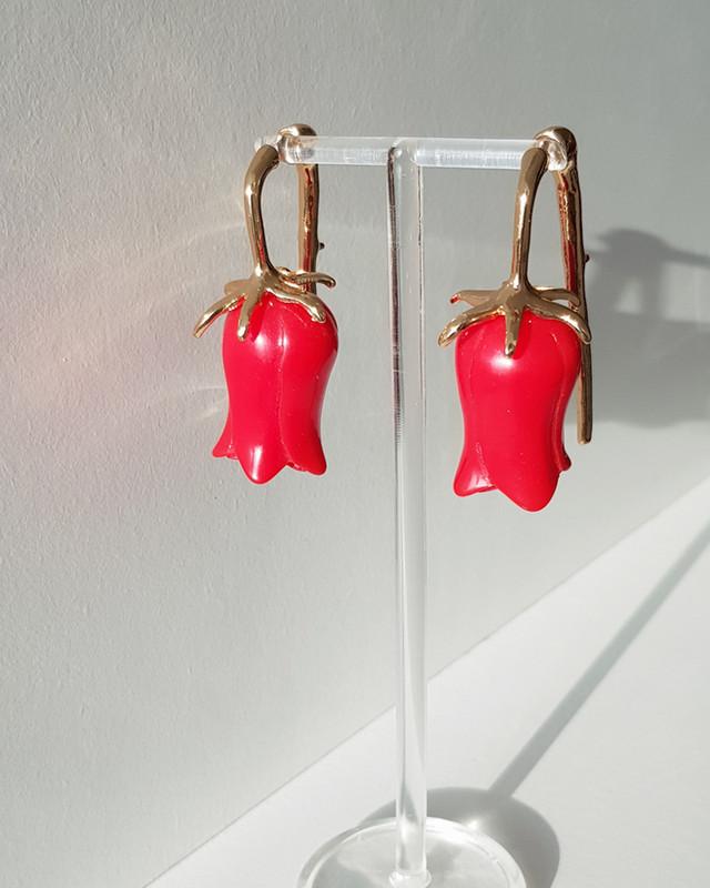 3d Carved Rose Earrings Accessories on kellinsilver.com