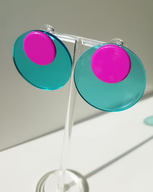 Acrylic Button Disc Studs on kellinsilver.com