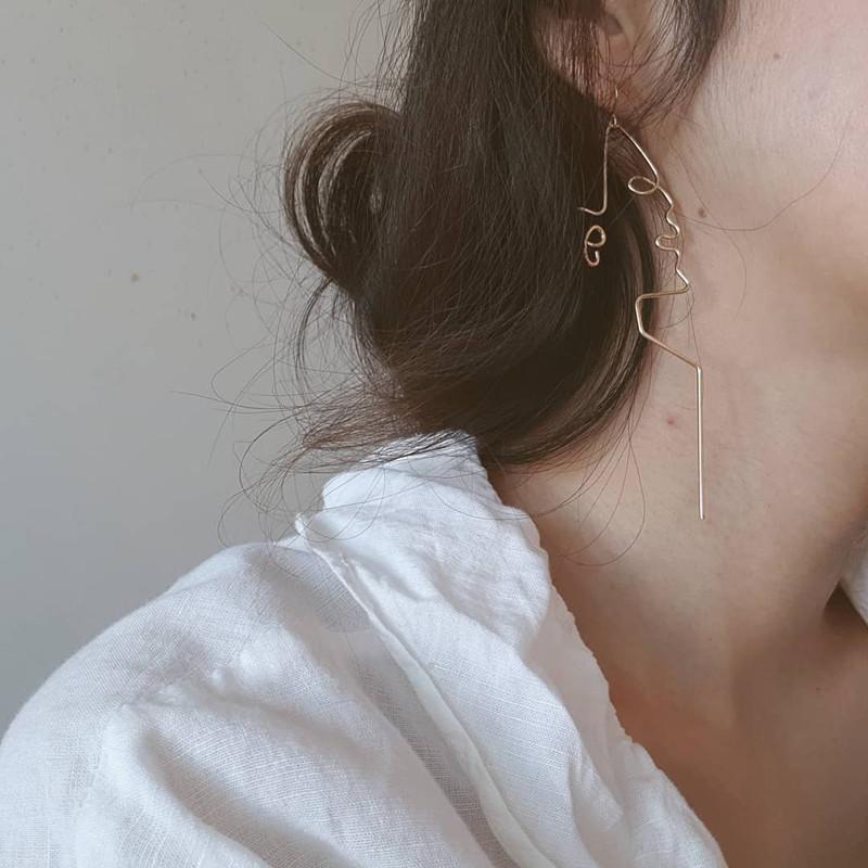 Face Line Earrings on kellinsilver.com