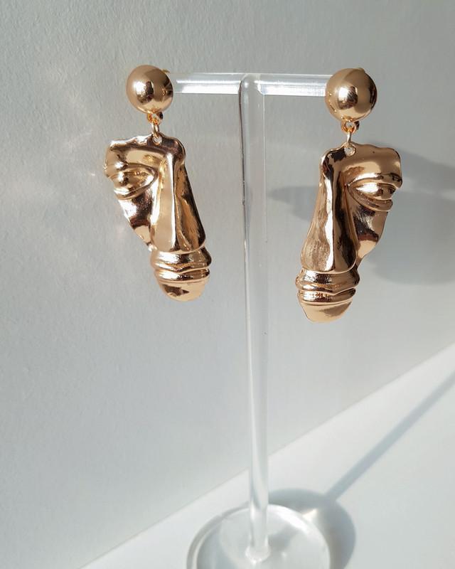 Old Face Earrings on kellinsilver.com