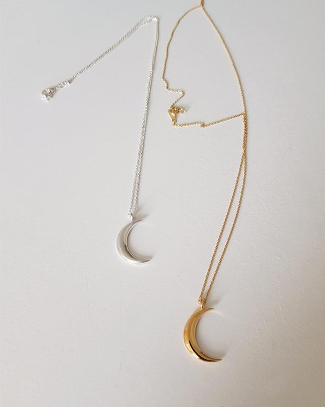 Crescent Moon Necklace Sterling Silver on kellinsilver.com