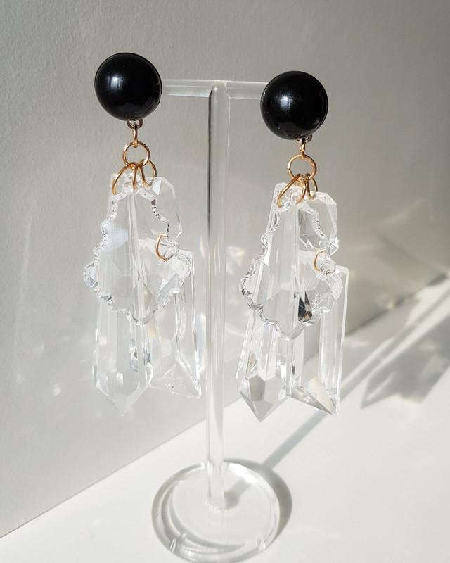 Missy Acrylic Drop Earrings on kellinsilver.com