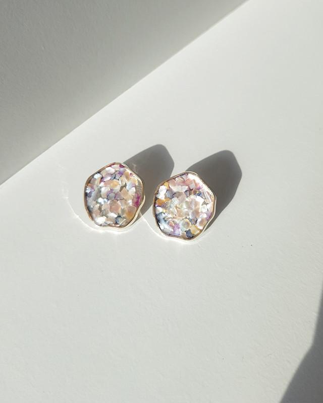 Mosaic Button Stud Earrings on kellinsilver.com