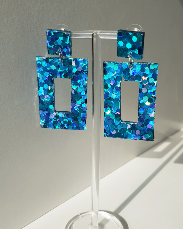 Electric Drop Earrings in Blue from kellinsilver.com