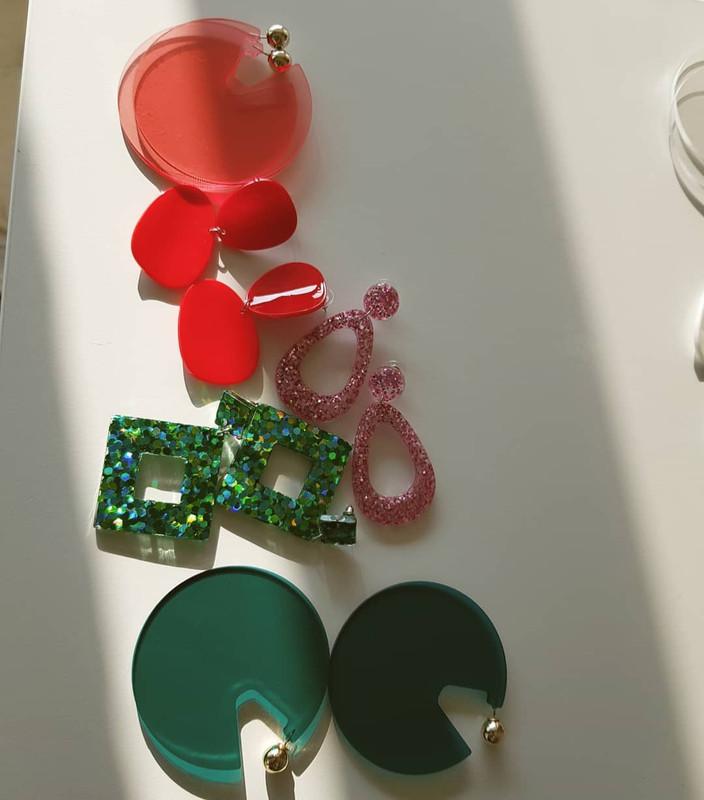 Electric Drop Earrings in Pink from kellinsilver.com