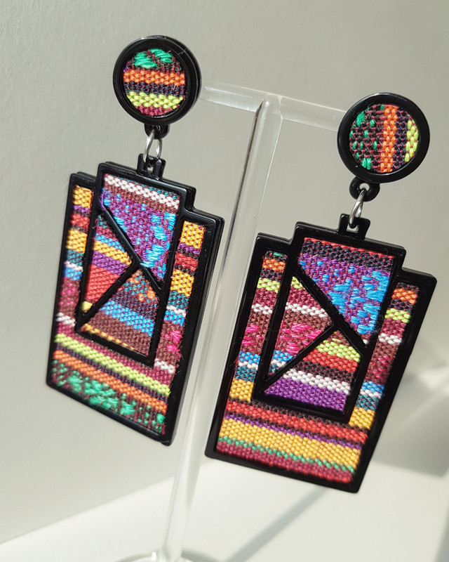 Fabric Rio Drop Earrings on kellinsilver.com