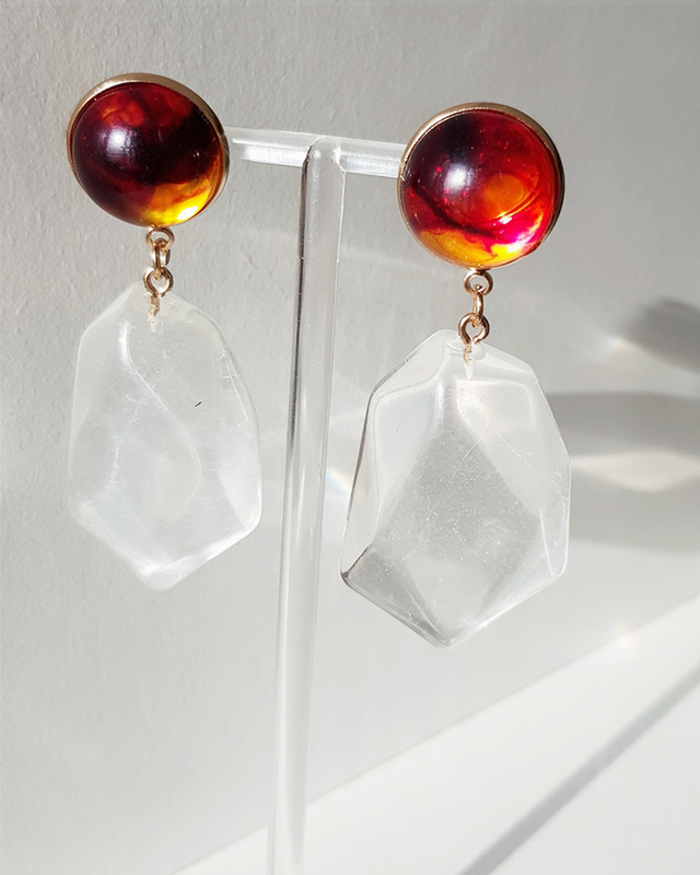 Diana Resin Drop Earrings on kellinsilver.com