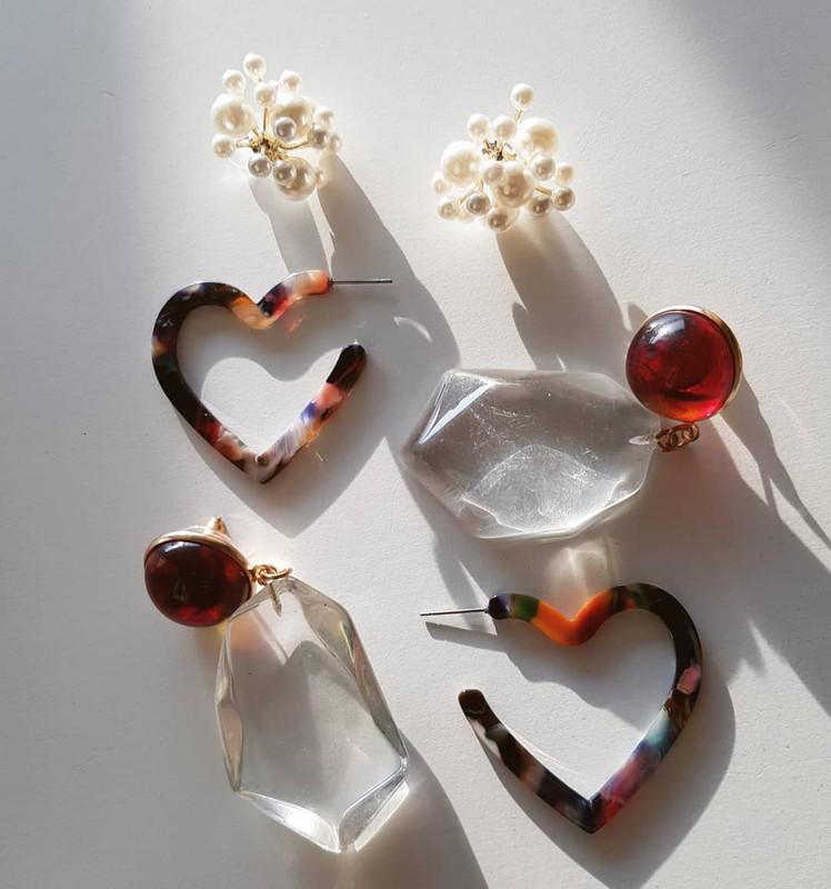 Diana Resin Drop Earrings on kellinsilver.com