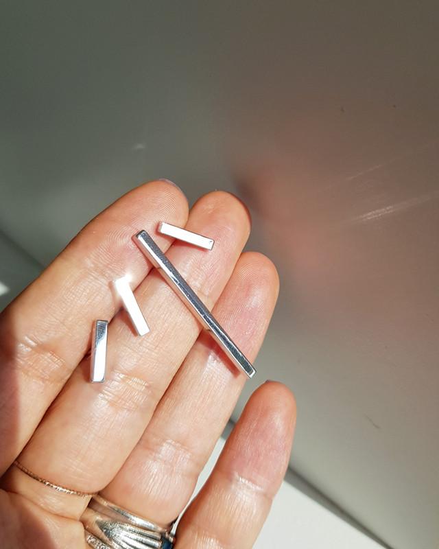 Sterling Silver Bar Earrings on kellinsilver.com