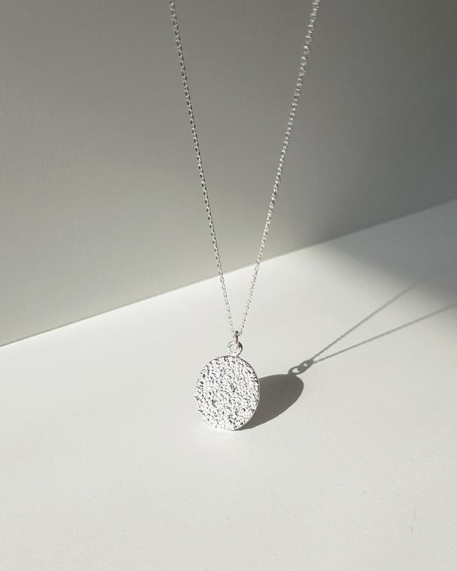 Capri Coin Long Necklace Sterling Silver on kellinsilver.com