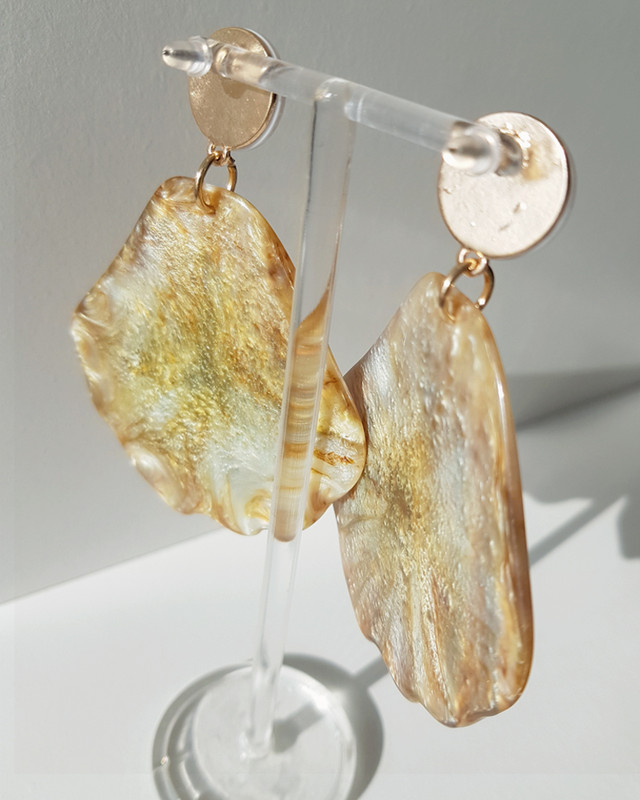 Resin Large Shell Drop Earrings on kellinsilver.com