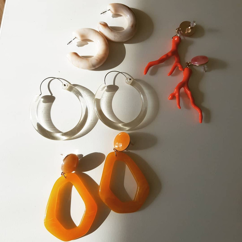 Resin Mandarin Drop Earrings on kellinsilver.com