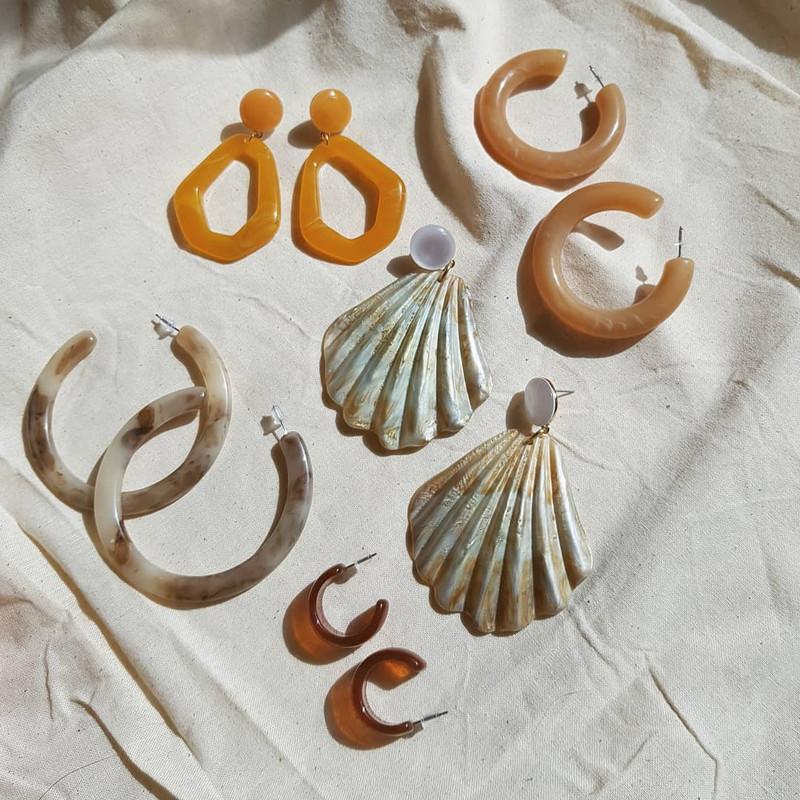 Resin Mandarin Drop Earrings on kellinsilver.com