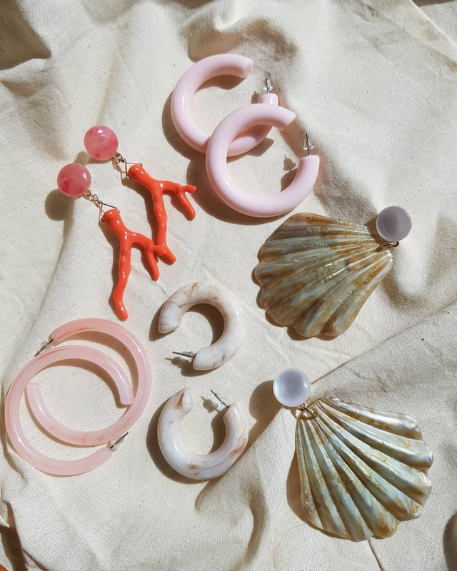 53mm Candy Hoop Earrings in Pastel Pink on kellinsilver.com