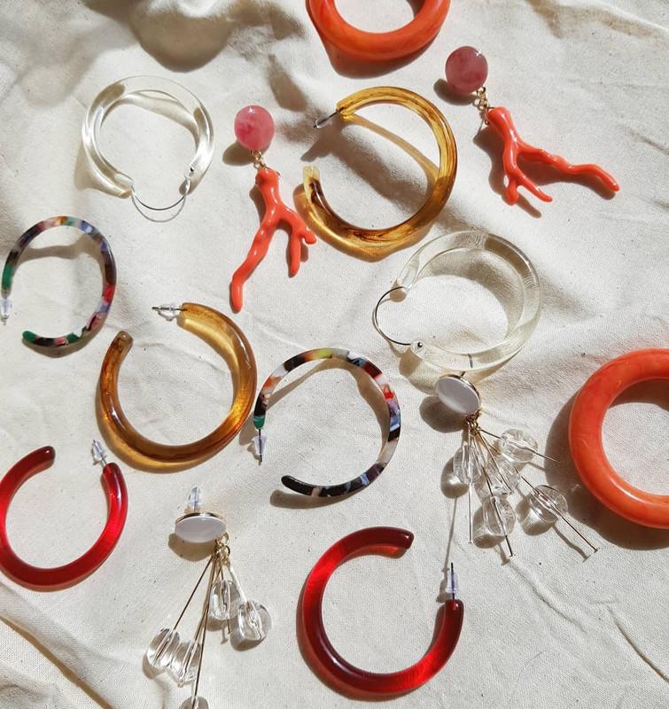 Clear Beads Chloe Earrings on kellinsilver.com