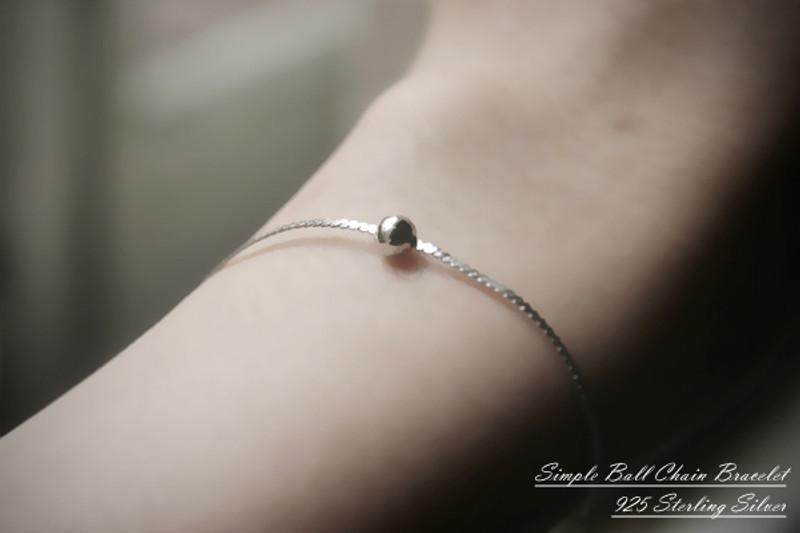 Sterling Silver Simple Ball Bracelet