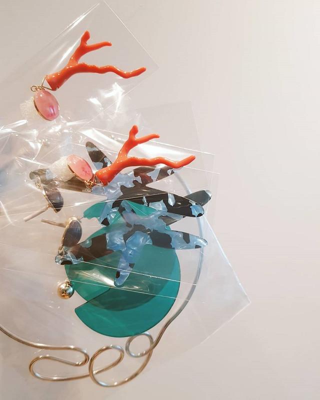 Acrylic Starfish Earrings in Blue on kellinsilver.com