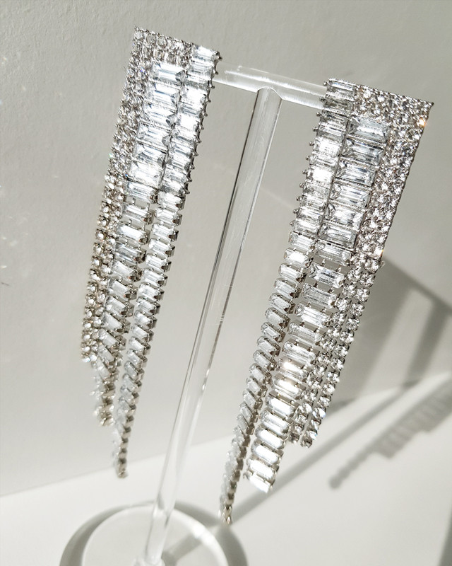 Rhinestone Fall Earrings on kellinsilver.com