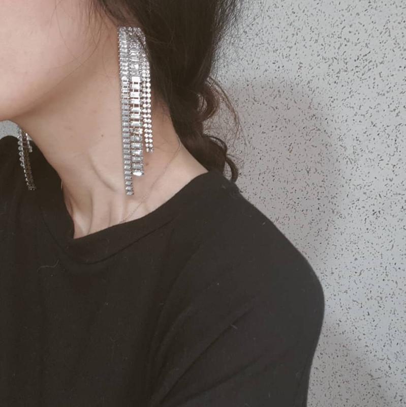 Rhinestone Fall Earrings on kellinsilver.com