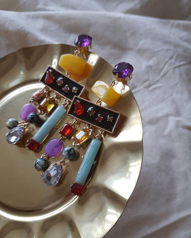 Jewel Fiesta Earrings in Multi on kellinsilver.com