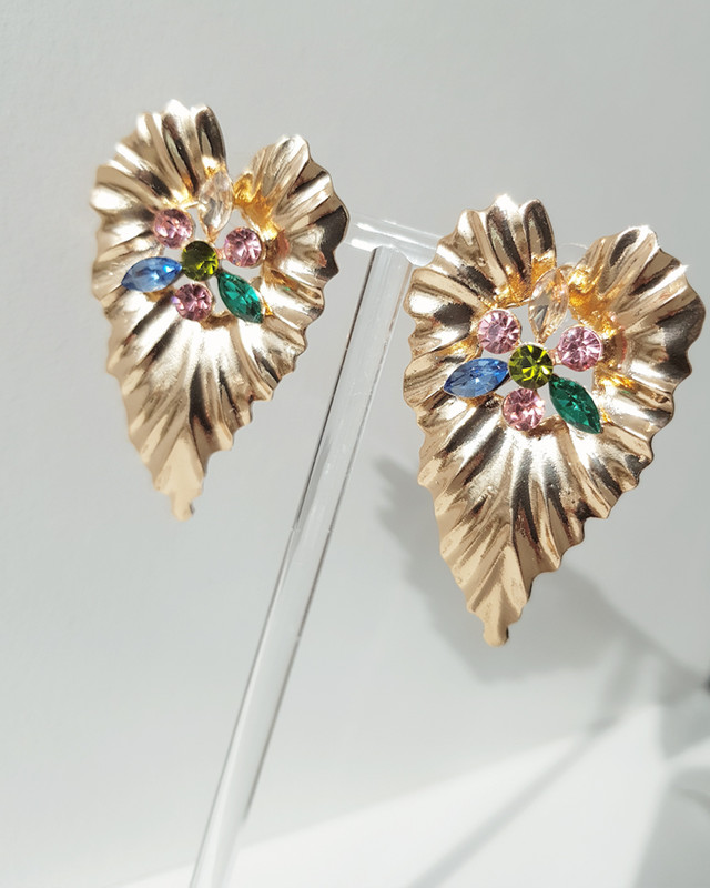 Ivy Rhinestone Earrings in Multi on kellinsilver.com