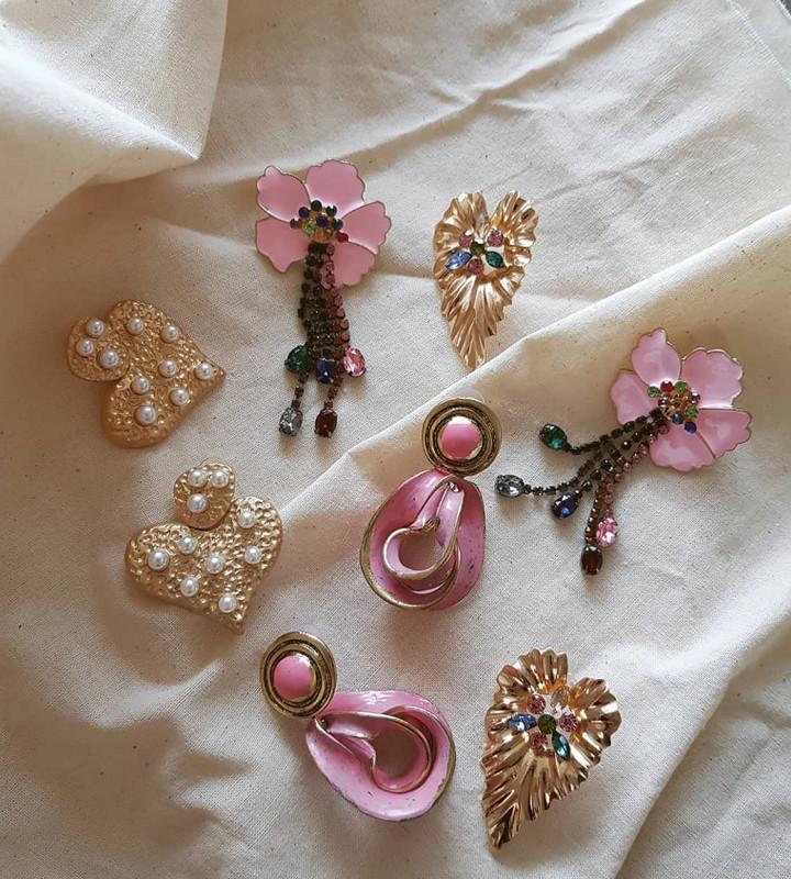 Antique Vivian Earrings in Pink on kellinsilver.com