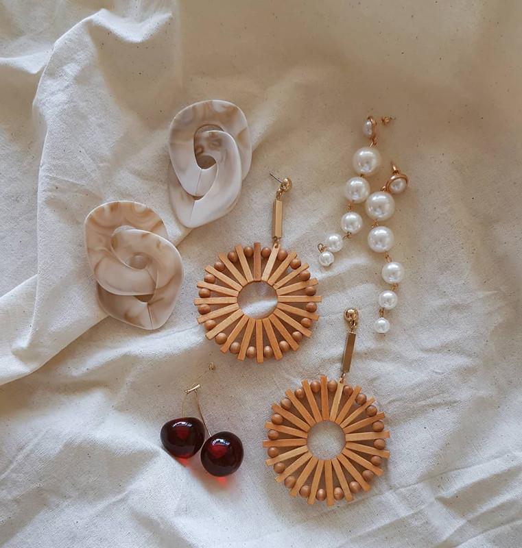 Pearl Statement Earrings on kellinsilver.com