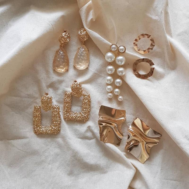 Gold Aquata Earrings on kellinsilver.com