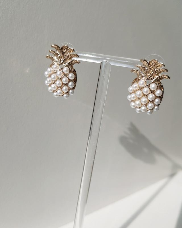 Pearl Pineapple Stud Earrings on kellinsilver.com