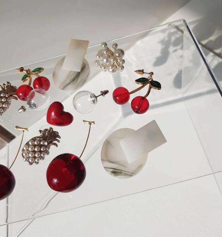 Resin Bianco Earrings on kellinsilver.com