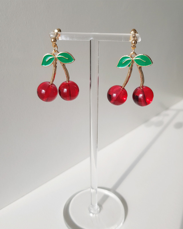 Cute Cherry Earrings on kellinsilver.com