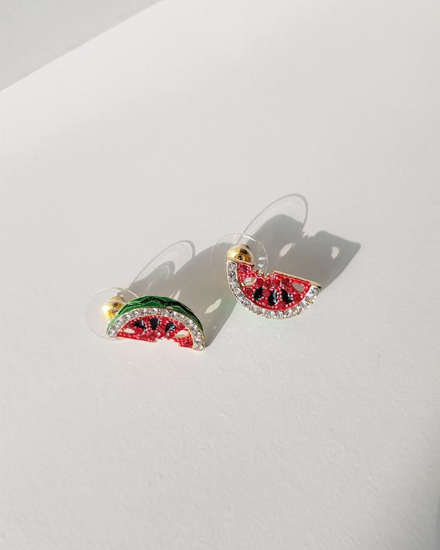 Small Watermelon Stud Earrings on kellinsilver.com