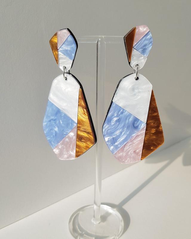 Suzette Acrylic Earrings on kellinsilver.com