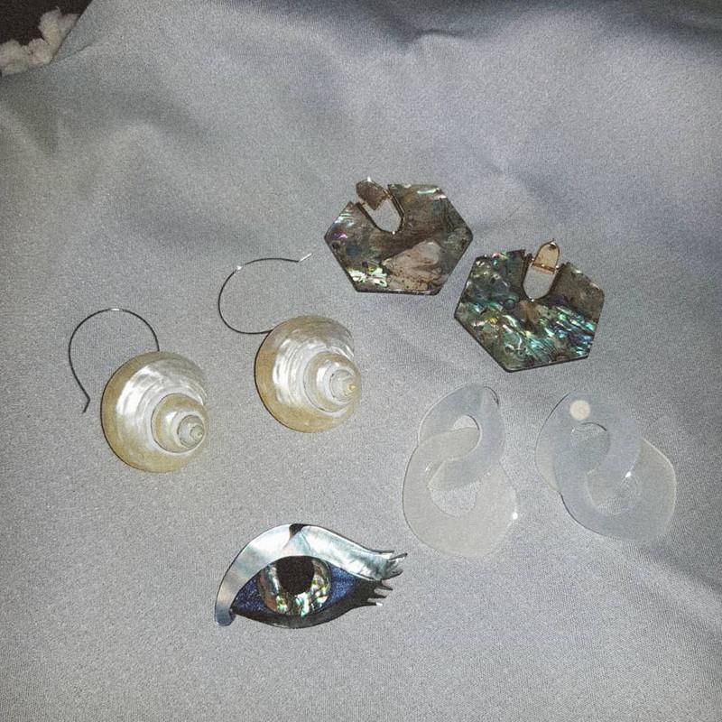 Small Misty Acrylic Earrings on kellinsilver.com