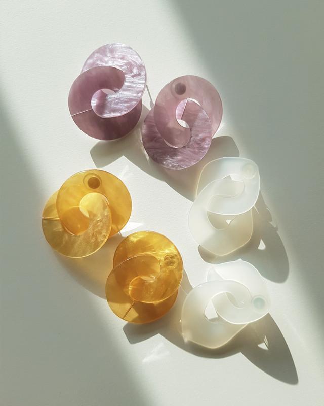 Lala Acrylic Earrings in Mustard on kellinsilver.com