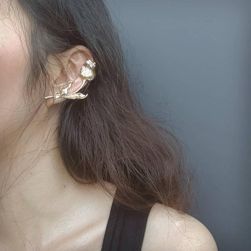 Two-way Rose Branch Earrings on kellinsilver.com