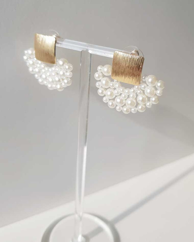 Pearl Sector Earrings on kellinsilver.com