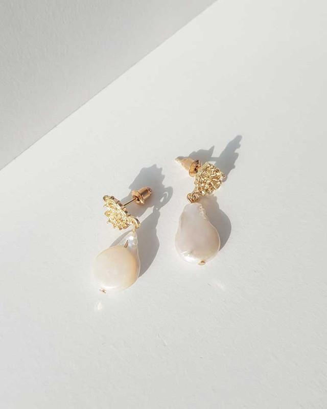 Tiny Heart Pearl Earrings on kellinsilver.com