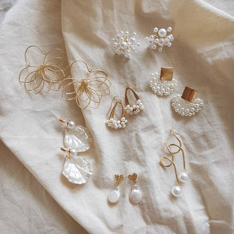Pearl Cluster Earrings on kellinsilver.com