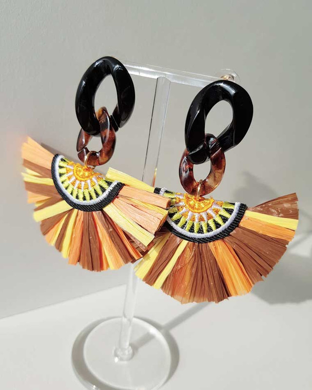 Sahari Raffia Drop Earrings on kellinsilver.com